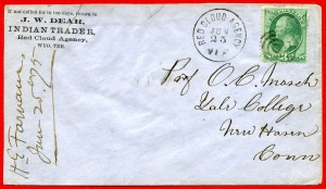 Letter to O.C. Marsh from the Red Cloud Indian Agency