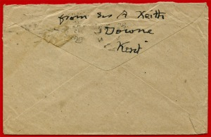 Cover obverse with name in script