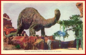 Sinclair Dinosaur Exhibit at the Century of Progress