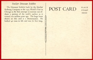 Obverse of post card depicting 'Dino the Dinosaur'