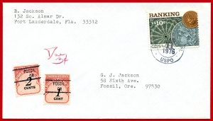 Fossil, Oregon Postage Due Cover