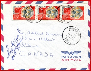 Airmail Rate of 90 Francs to Canada